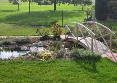 Kleiner Steg im Garten