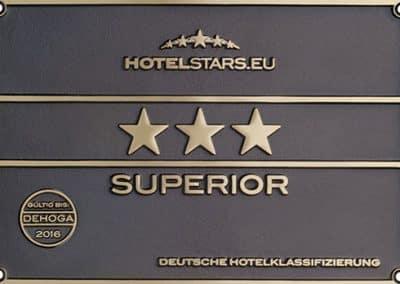 Schild 3 Sterne für das Landhotel