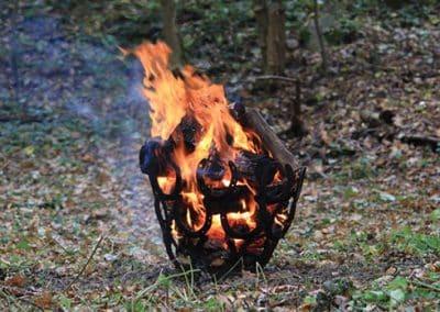 Feuerkorb während der Wietzetzer Jagdwoche