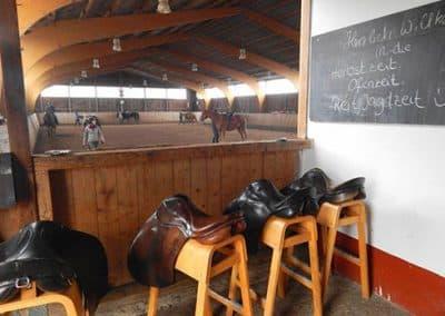 Blick in die Reithalle im Landhotel Pferdeschulze