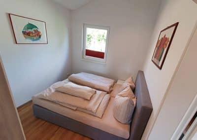 Schlafzimmer in einem der Chalets mit Charme
